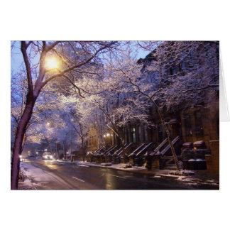 Calle 5x7 del invierno tarjeta de felicitación