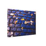 Calle azul de los guijarros impresiones en lienzo estiradas