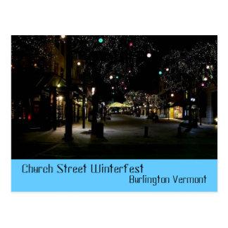 Calle Burlington Vermont de la iglesia de Tarjetas Postales