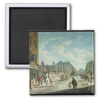 Calle con el intercambio real, Dublín, 1800 del ca Imanes De Nevera