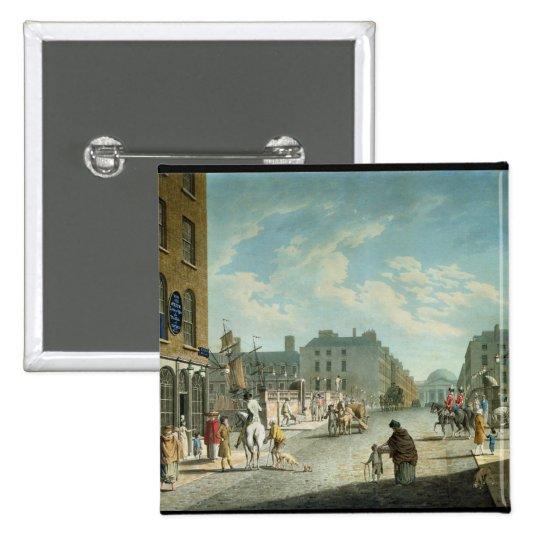 Calle con el intercambio real, Dublín, 1800 del ca Pin Cuadrado