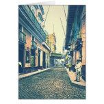 Calle Cuba 1899 de La Habana Tarjeta De Felicitación