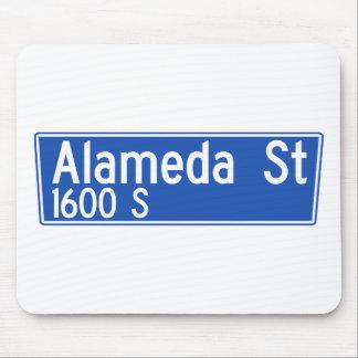 Calle de Alameda, Los Ángeles, placa de calle de Tapetes De Ratón