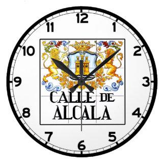 Calle de Alcalá, Madrid Street Sign Large Clock