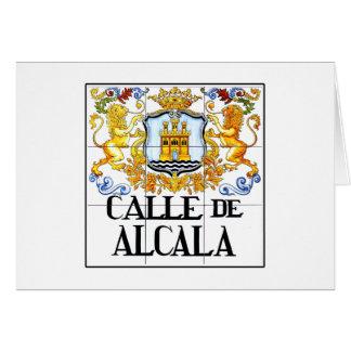 Calle de Alcalá, placa de calle de Madrid Tarjeta De Felicitación