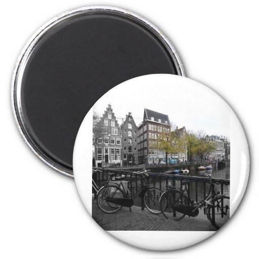 Calle de Amsterdam Imán Redondo 5 Cm