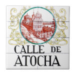 "Calle de Atocha, Madrid Street Sign Ceramic Tile<br><div class=""desc"">An original street sign from the capital of Spain,  Madrid. Check out our series of real street and road signs!</div>"