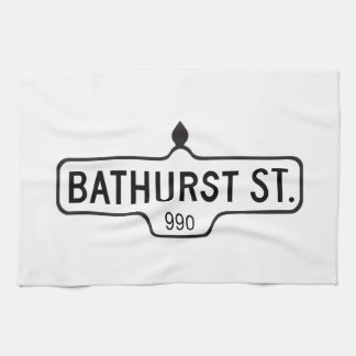 Calle de Bathurst, placa de calle de Toronto Toallas De Cocina