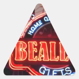 Calle de Beale Pegatina Triangular