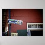 Calle de Borbón, placa de calle, New Orleans Posters