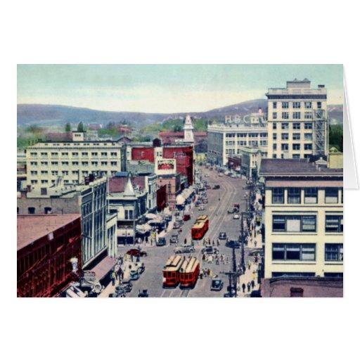 Calle de Canadá Douglas de la Columbia Británica d Tarjeta De Felicitación