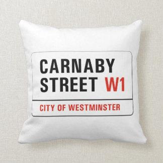 Calle de Carnaby, placa de calle de Londres Cojín