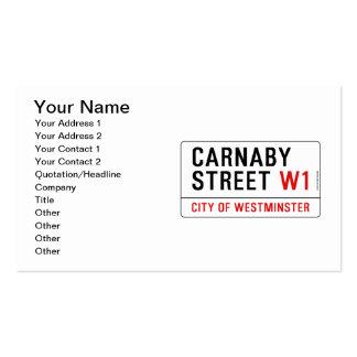 Calle de Carnaby Tarjetas De Visita