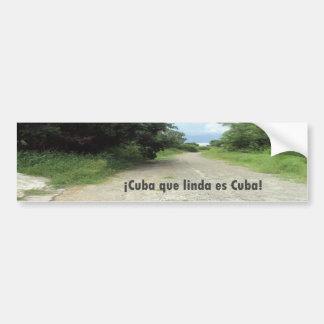 Calle de Celimar, Habana, Cuba Bumper Sticker