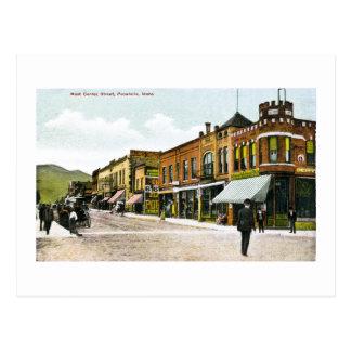 Calle de centro del oeste, Pocatello, Idaho Tarjeta Postal
