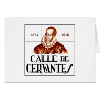 Calle de Cervantes, Madrid Street Sign Card