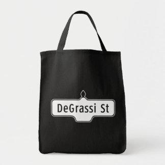 Calle de DeGrassi, placa de calle de Toronto Bolsa Tela Para La Compra