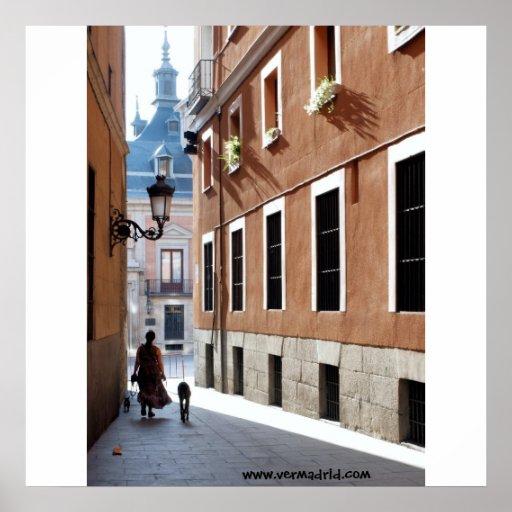 Calle de El Codo, Madrid Poster