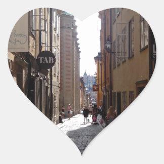 Calle de Estocolmo Pegatina En Forma De Corazón