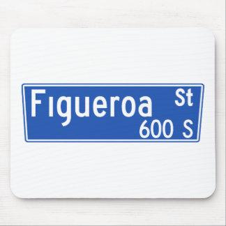 Calle de Figueroa, Los Ángeles, placa de calle de Tapete De Ratón