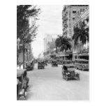 Calle de Flagler, Miami, los años 20 Tarjeta Postal