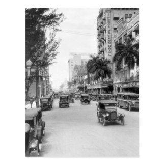 Calle de Flagler, Miami, los años 20 Postal