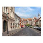 Calle de Fortuna en distrito del castillo en Budap Postal