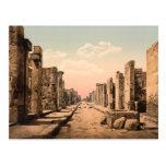 Calle de Fortuna, Pompeya, Campania, Italia Postales