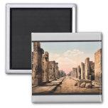 Calle de Fortuna, vintage Photochrom de Pompeya, I Imán De Frigorifico