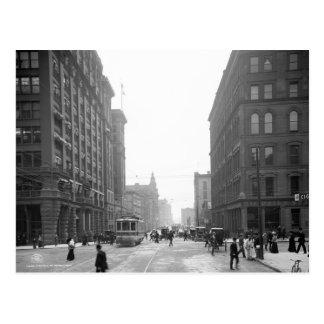 Calle de Griswold, Detroit: 1906 Postal