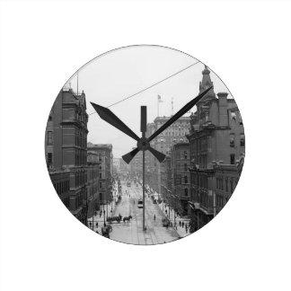 Calle de Griswold, Detroit, Mich. Reloj de pared