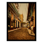 Calle de Habana en La Habana, Cuba 1900 Posters