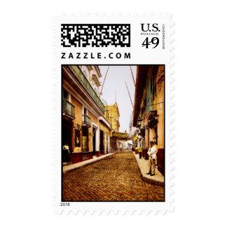 Calle de Habana Havana Cuba Stamp