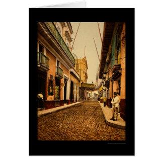 Calle de Habana in Havana, Cuba 1900 Card