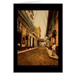 Calle de Habana in Havana, Cuba 1900 Greeting Card