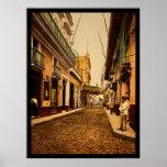 Calle de Habana in Havana, Cuba 1900 Poster