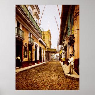Calle de Habana La Habana Cuba Póster
