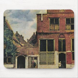 Calle de Juan Vermeer en Delft (circa 1660) Alfombrillas De Raton