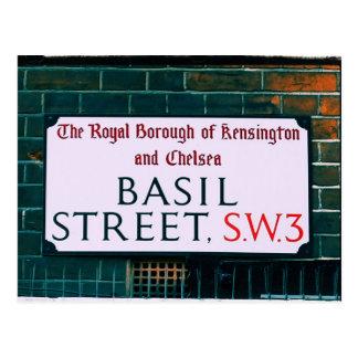 Calle de la albahaca - Kensington y Chelsea Postal
