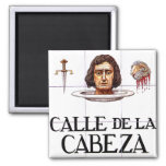 Calle de la Cabeza, Madrid Street Sign Fridge Magnet