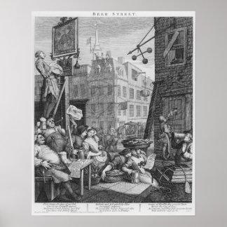 Calle de la cerveza 1751 poster