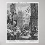 Calle de la cerveza, 1751 poster