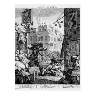 Calle de la cerveza, 1751 postal