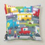 Calle de la ciudad almohadas