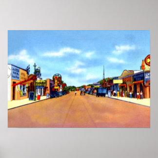 Calle de la ciudad de la avenida de Juarez México  Póster