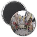 Calle de la ciudad de Quebec Imán Redondo 5 Cm