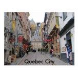Calle de la ciudad de Quebec Postales