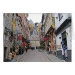 Calle de la ciudad de Quebec Tarjeta De Felicitación