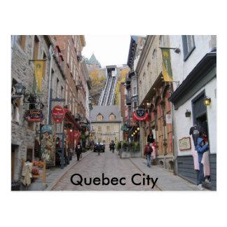 Calle de la ciudad de Quebec Tarjeta Postal