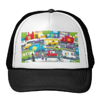 Calle de la ciudad gorras de camionero